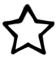 star graffiti spray icon in black over white vector image vector image
