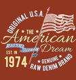 T-shirt typography design USA printing graphics vector image vector image