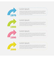 Timeline vertical Infographic with colored arrows vector image