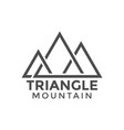 triangle mountain graphic design template vector image