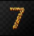 tribulation numbers 7 of candles vector image vector image