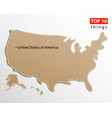 united states of america map usa maps craft vector image vector image