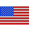USA flag embroidery design pattern vector image vector image