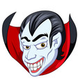 vampire face cartoon vector image vector image