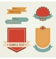 Vintage retro flat badges labels set vector image vector image