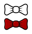 white and red bow tie icons isolated on vector image
