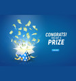 win prize online casino gambling game vector image vector image