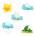 set of different weather icons vector image