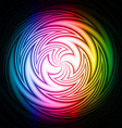 Abstract swirl on a black background vector image vector image