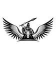 ancient warrior riding a pegasus vector image vector image