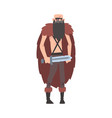 angry viking male warrior character in animal vector image vector image