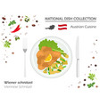austrian cuisine european national dish vector image