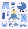 Baby boy design icons vector image vector image