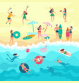 background with various peoples male vector image vector image