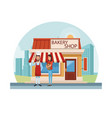 bakery shop at city vector image