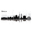 berlin germany city skyline silhouette with black vector image vector image