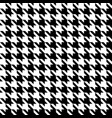 black and white houndstooth seamless pattern vector image vector image