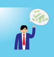 Business people with thinking money vector image vector image