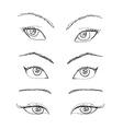 Cartoon eyes set vector image