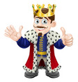 cartoon king mascot vector image vector image
