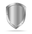 Classic empty metal shield isolated vector image vector image