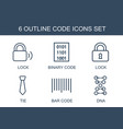code icons vector image vector image