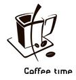 Coffee cup icon vector image vector image