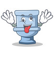 crazy toilet character cartoon style vector image vector image