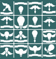 creative light bulb collection of design elements vector image