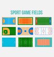 creative of sport game fields vector image vector image