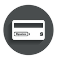 Credit card sign icon Debit card symbol vector image vector image