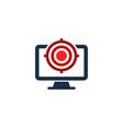 desktop target logo icon design vector image vector image