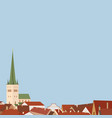 european architecture city vector image