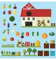 Farm in village Elements for game vector image