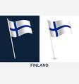 finland flag waving national flag finland vector image vector image