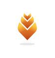 flower logo elegant gradient vector image