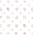 fly icons pattern seamless white background vector image vector image
