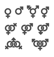 Gender symbol icons vector image vector image