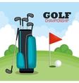 Golf championship sport icon vector image
