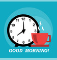 good morning and coffee vector image vector image
