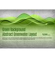Green Water Background vector image vector image