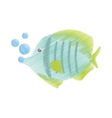 hand drawing exotic fish sealife freshwater vector image
