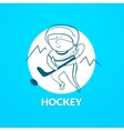 Hockey logo vector image