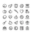 icon set for pizzeria vector image vector image