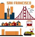 landmarks of San Francisco flat design vector image vector image