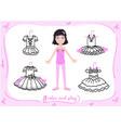 little ballet dancer doll vector image