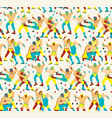 lucha libre seamless patternluchadores heroes vector image vector image