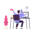 manager at work administrator time management vector image