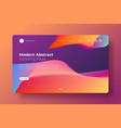 modern abstract landing page vector image