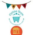 online store design vector image